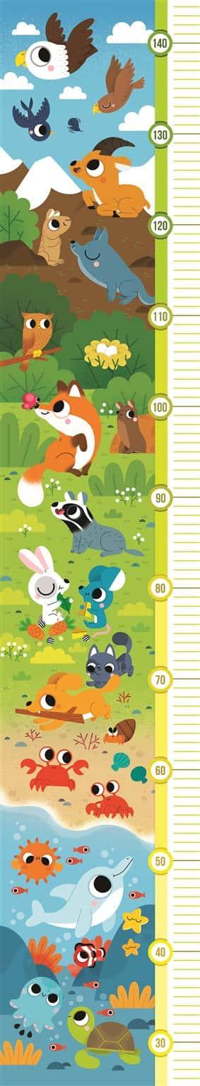 Dieren Clementoni Kinderpuzzel groeimeter