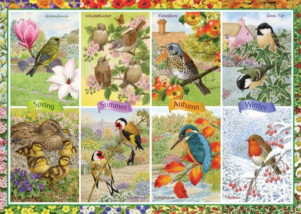 Seasonal Garden Birds Jumbo11292 01 Legpuzzels.nl