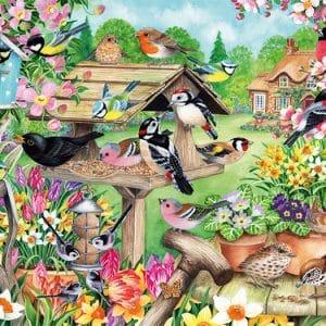 Spring Garden Birds Jumbo11280 01 Legpuzzels.nl