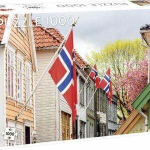 Street In Bergen (with Norwegian Flags) Tactic