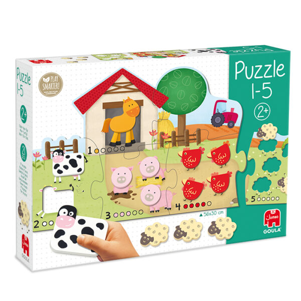 tellen op de boerderij vorm puzzel jumbo 53438 int 1