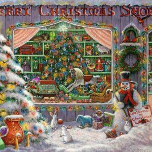 Kerst Winkel Sneeuwpop Kerstboom Sneeuw