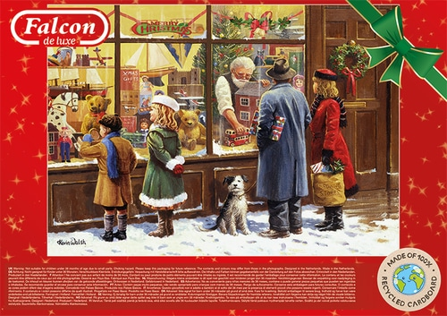 The Christmas Window Falcon