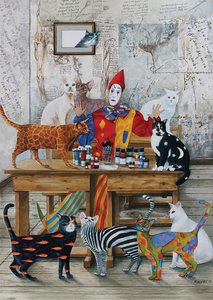 the coloured cats 5247 art puzzel 1