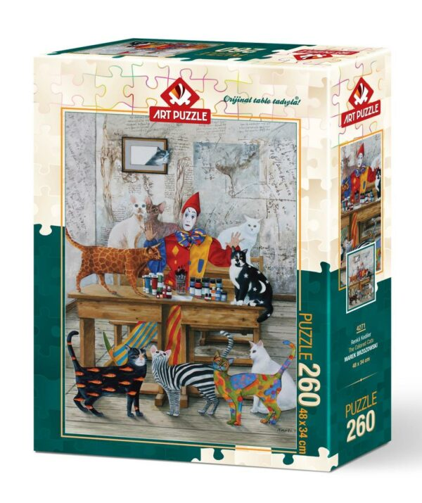 the coloured cats 5247 art puzzel 2