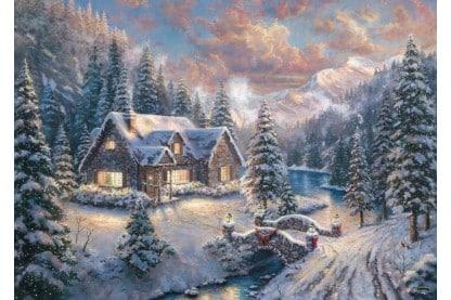 Thomas Kinkade Christmas In The Mountains Schmidt