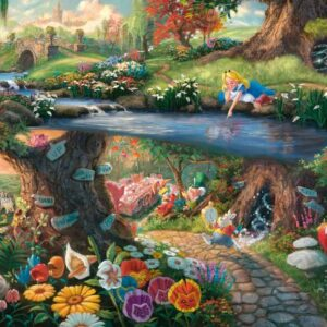 Thomas Kinkade Disney Alice Wonderland