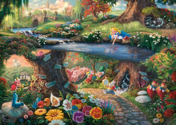 Thomas Kinkade Disney Alice Wonderland