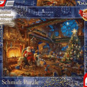Thomas Kinkade Santa Claus And His Elves Schmidt