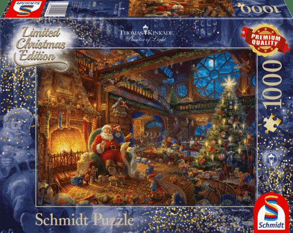 Thomas Kinkade Santa Claus And His Elves Schmidt
