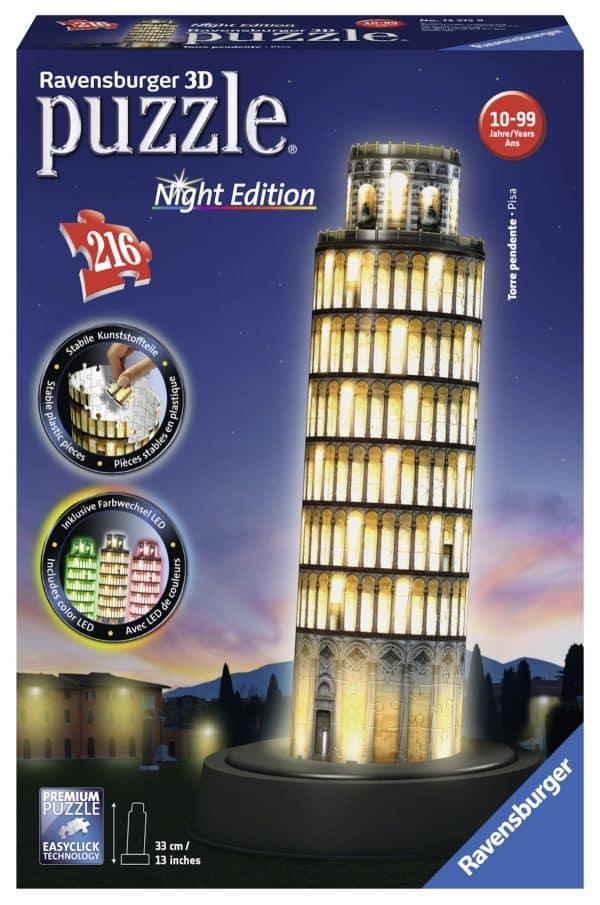 Toren Van Pisa Night Edition Ravensburger125159 02 Legpuzzels.nl