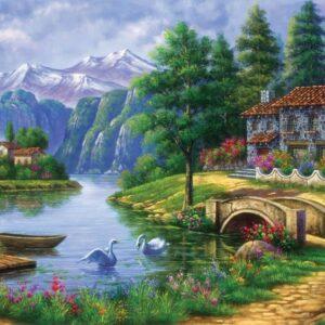 village by lake art5371 01 legpuzzels.jpg