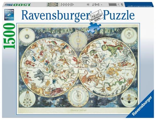 Wereldkaart Met Fantastierijke Dieren Ravensburger160037 02 Legpuzzels.nl