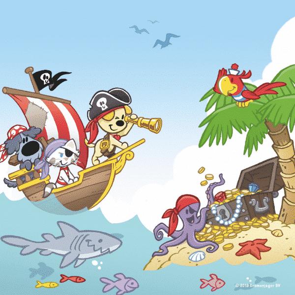 Woezel Pip Piraat Jumbo Kinderpuzzels