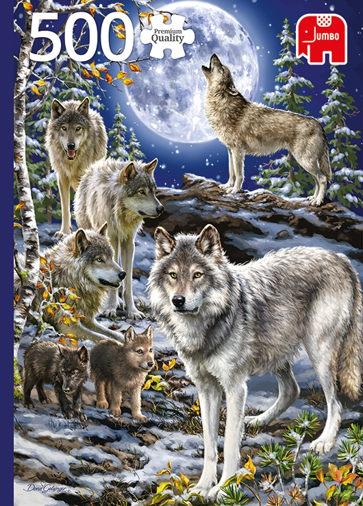 Wolf Pack In Winter Jumbo18845 01 Legpuzzels.nl