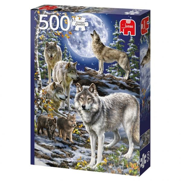 Wolf Pack In Winter Jumbo18845 02 Legpuzzels.nl