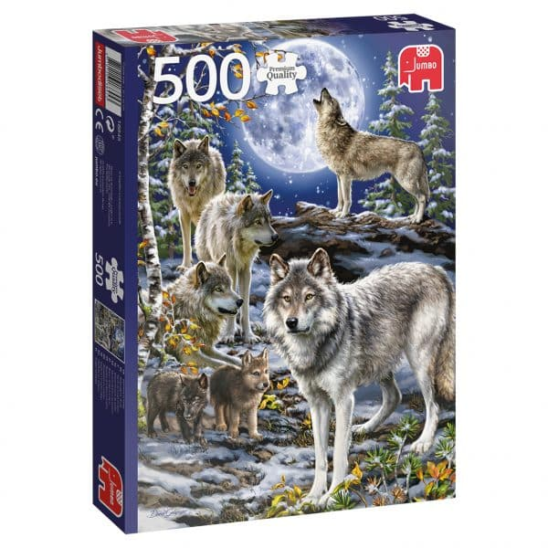 Wolf Pack In Winter Jumbo18845 03 Legpuzzels.nl