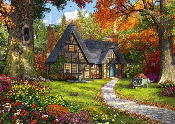 Woodland Cottages Jumbo11294 02 Legpuzzels.nl