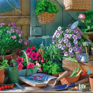 planten tuintafel bloemen