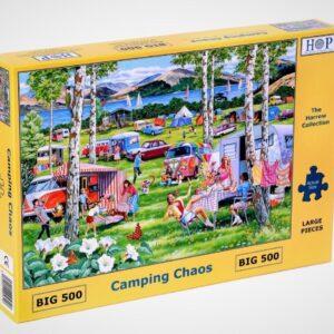 camping chaos puzzel 500 xl legpuzzels.nl mc540