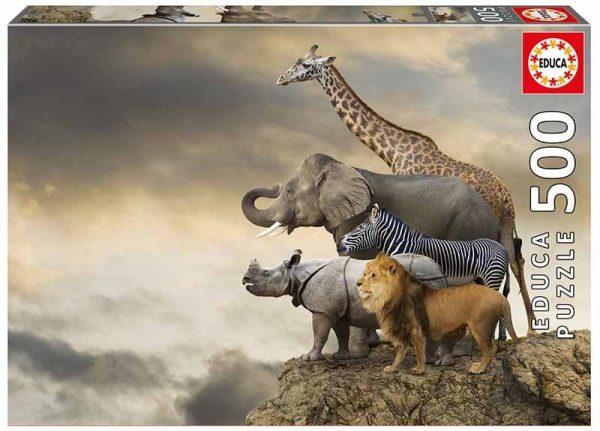 leeuw nijpaald zebra olifant giraffe