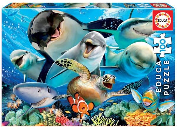 educa onderwater selfie 100 legpuzzels