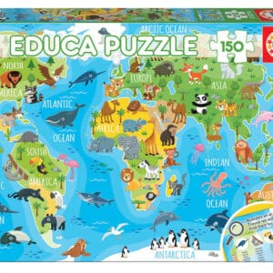 Educa Puzzel Animals World Map