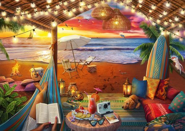 Gezellige Cabana Legpuzzel