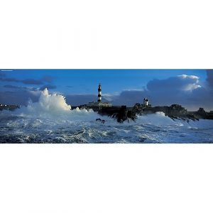 water vuurtoren storm