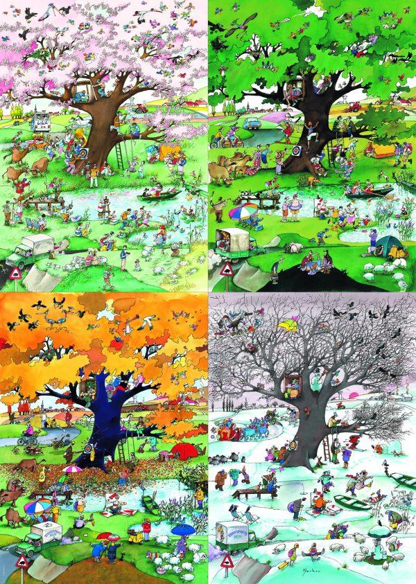 4 seizoenen winter zomer lente herfst