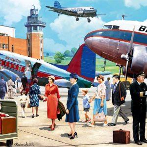 vliegtuigen vliegveld stewardess piloot