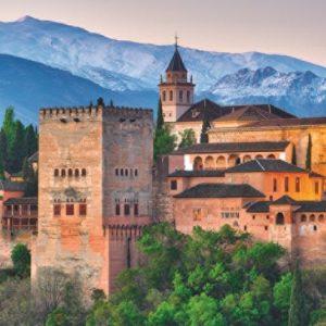 alhambra paleis in granada spanje