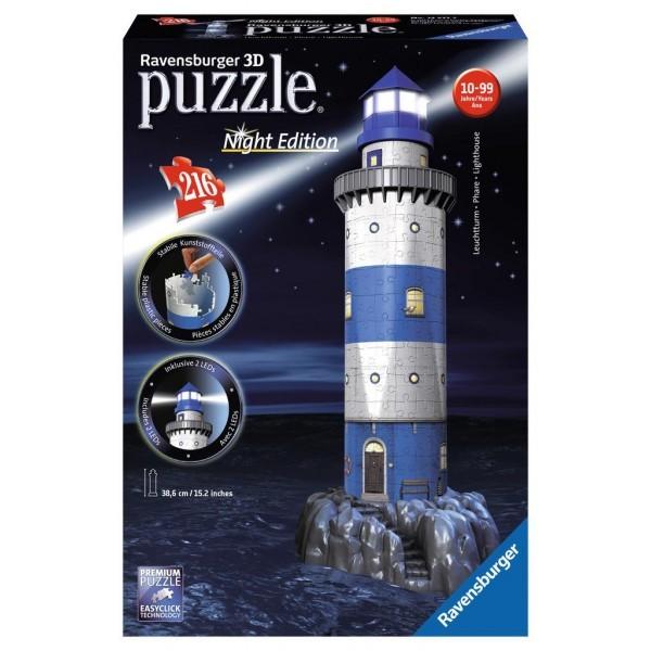 3d puzzel vuurtoren lighthouse nacht editie