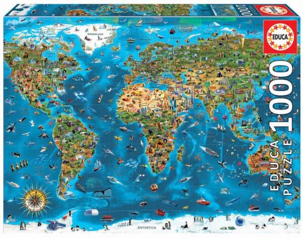 19022 1000 mapamundi ilustrado