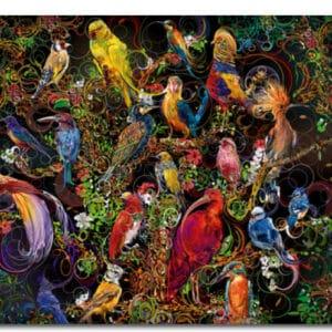 Schitterende Vogels Legpuzzels
