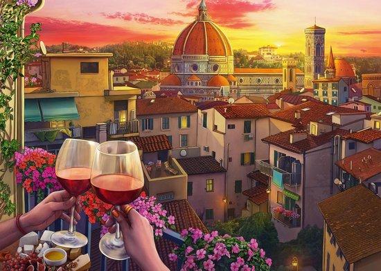Wijn Drinken Op Het Terras Legpuzzel