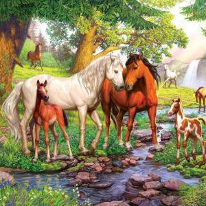 wilde paarden bij de rivier 129041 1 ravensburger